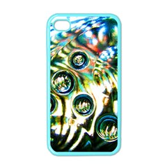 Dark Abstract Bubbles Apple iPhone 4 Case (Color)