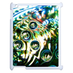 Dark Abstract Bubbles Apple Ipad 2 Case (white)