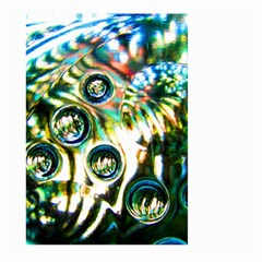Dark Abstract Bubbles Large Garden Flag (two Sides)