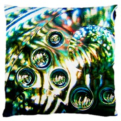 Dark Abstract Bubbles Large Cushion Case (two Sides)