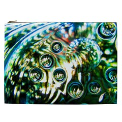 Dark Abstract Bubbles Cosmetic Bag (xxl)