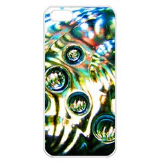 Dark Abstract Bubbles Apple Iphone 5 Seamless Case (white)