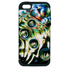 Dark Abstract Bubbles Apple Iphone 5 Hardshell Case (pc+silicone)