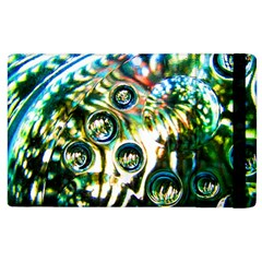 Dark Abstract Bubbles Apple Ipad 2 Flip Case