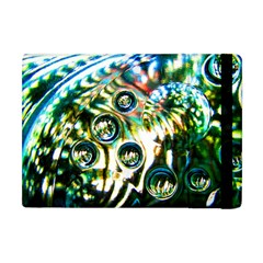 Dark Abstract Bubbles Apple Ipad Mini Flip Case