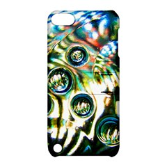 Dark Abstract Bubbles Apple Ipod Touch 5 Hardshell Case With Stand
