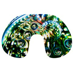 Dark Abstract Bubbles Travel Neck Pillows