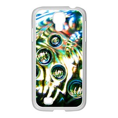 Dark Abstract Bubbles Samsung Galaxy S4 I9500/ I9505 Case (white)