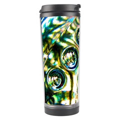 Dark Abstract Bubbles Travel Tumbler