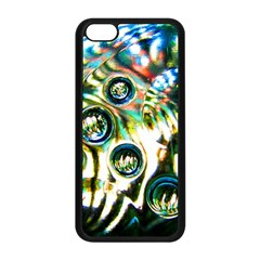 Dark Abstract Bubbles Apple Iphone 5c Seamless Case (black)