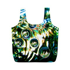 Dark Abstract Bubbles Full Print Recycle Bags (m)
