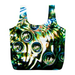 Dark Abstract Bubbles Full Print Recycle Bags (l)