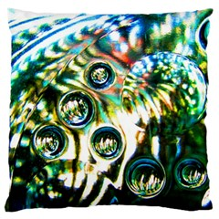 Dark Abstract Bubbles Standard Flano Cushion Case (one Side)