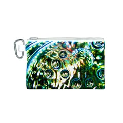 Dark Abstract Bubbles Canvas Cosmetic Bag (s)