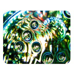 Dark Abstract Bubbles Double Sided Flano Blanket (large)