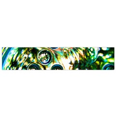 Dark Abstract Bubbles Flano Scarf (small)