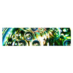 Dark Abstract Bubbles Satin Scarf (oblong)