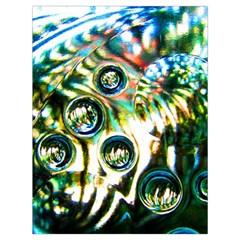 Dark Abstract Bubbles Drawstring Bag (large)