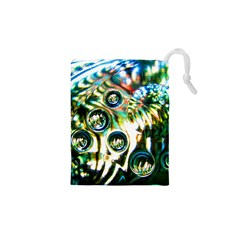 Dark Abstract Bubbles Drawstring Pouches (xs)