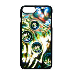 Dark Abstract Bubbles Apple Iphone 7 Plus Seamless Case (black)