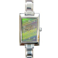 Diagonal Lines Abstract Rectangle Italian Charm Watch