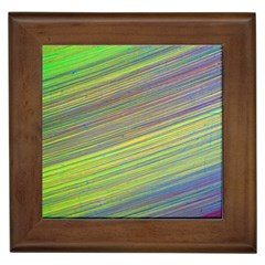 Diagonal Lines Abstract Framed Tiles