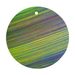 Diagonal Lines Abstract Ornament (round)