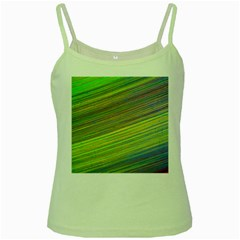 Diagonal Lines Abstract Green Spaghetti Tank