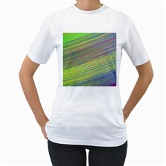 Diagonal Lines Abstract Women s T Shirt (white) (two Sided)