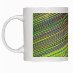 Diagonal Lines Abstract White Mugs