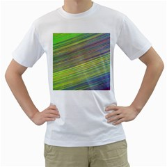 Diagonal Lines Abstract Men s T Shirt (white) (two Sided)