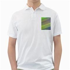 Diagonal Lines Abstract Golf Shirts