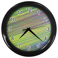 Diagonal Lines Abstract Wall Clocks (black)