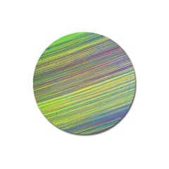 Diagonal Lines Abstract Magnet 3  (round)