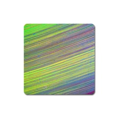 Diagonal Lines Abstract Square Magnet