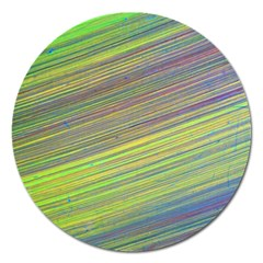 Diagonal Lines Abstract Magnet 5  (round)