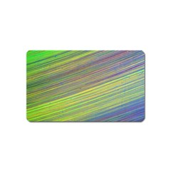 Diagonal Lines Abstract Magnet (Name Card)