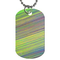 Diagonal Lines Abstract Dog Tag (one Side)