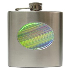 Diagonal Lines Abstract Hip Flask (6 Oz)