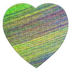 Diagonal Lines Abstract Jigsaw Puzzle (heart)
