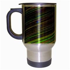 Diagonal Lines Abstract Travel Mug (silver Gray)