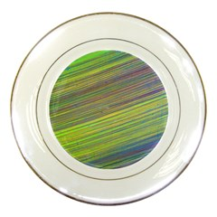 Diagonal Lines Abstract Porcelain Plates