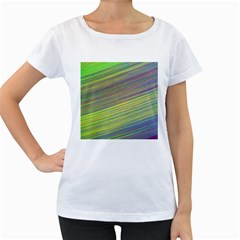Diagonal Lines Abstract Women s Loose Fit T Shirt (white)