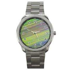 Diagonal Lines Abstract Sport Metal Watch