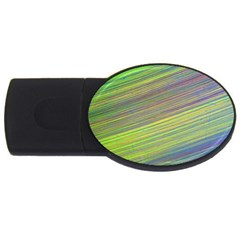 Diagonal Lines Abstract Usb Flash Drive Oval (4 Gb)