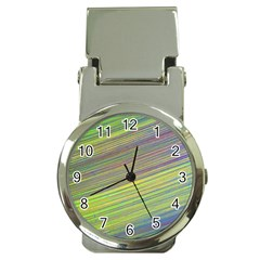 Diagonal Lines Abstract Money Clip Watches