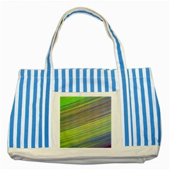 Diagonal Lines Abstract Striped Blue Tote Bag