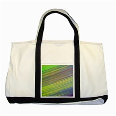 Diagonal Lines Abstract Two Tone Tote Bag