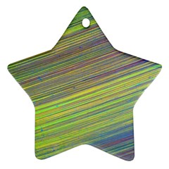 Diagonal Lines Abstract Star Ornament (two Sides)