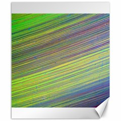 Diagonal Lines Abstract Canvas 8  X 10